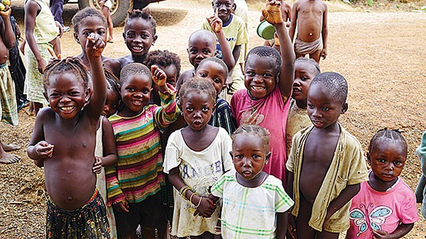Some of the Sierra Leoneans Marcus Rediker's film crew met making Ghosts of Amistad