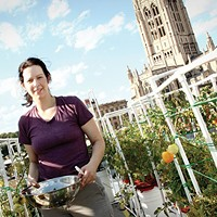 Sonja Finn on her rooftop garden at Dinette