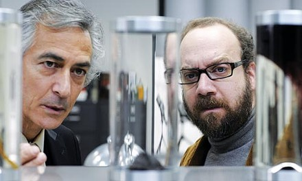 Soul patrol: David Strathairn and Paul Giamatti examine a few specimens.