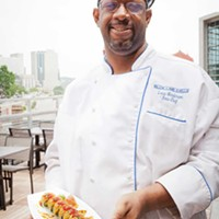 Blue Line Grille Sous chef Louis Henderson Photo by Heather Mull