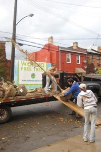 South Side volunteers planted 21 trees on Wharton Street on Oct. 24. - KIM COLLINS