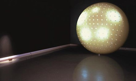 """Sphere of influence: Michael Hardesty's """"Was/Is"""" at Wood Street Galleries. Photo courtesy of Wood Street Galleries."""
