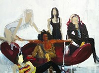 Spice Girls, scary, baby, posh, sporty, ginger, paintings, memorabilia, tiger beat