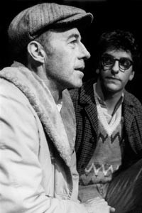 Staging ground: O'Malley and Lab Theatre's Bill Royston in rehearsal for Bent, in 1982 - COURTESY OF BINGO O'MALLEY