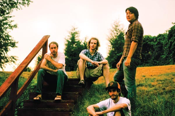 Stairs to nowhere: City Dwelling Nature Seekers (from left: Michael McCormick, Matt Booth, Lee Hintenlang, Chris Parker)