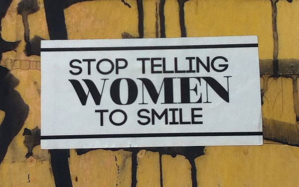 Stop Telling women to smile spotted in lawrenceville