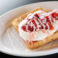Micro Diner Strawberries-and-cream French toast Photo by Heather Mull
