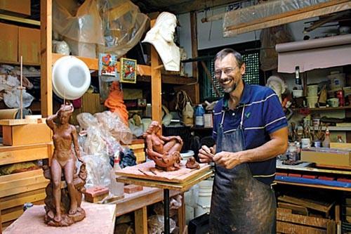 Studio of Duncan Macdiarmid. - PHOTO COURTESY OF CRISTINA SAUCEDO