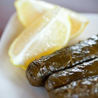 Naya Stuffed grape leaves Photo by Heather Mull