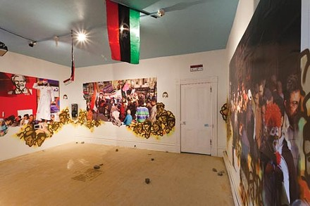 """""""Tahrir2,"""" a collaborative work by Emily Laychack and other Sites of Passage artists"""