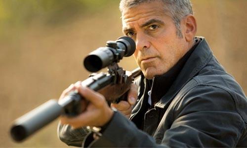 Taking aim: George Clooney