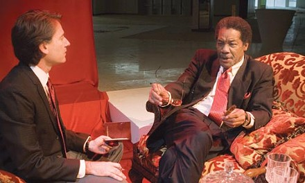 Talking cures: Ezra Barnes (left) and Don Marshall in Quantum's Breakfast With Mugabe.
