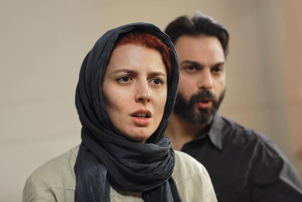 Talking heads: Leila Hatami (foreground) and Peyman Moadi