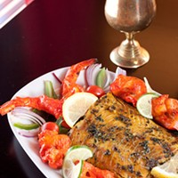 All India Tandoori chicken shrimp salmon Photo by Heather Mull