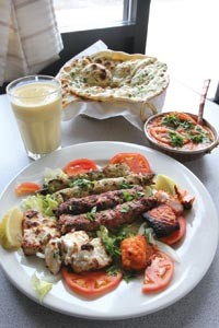 Tandoori salmon and a variety of kebabs - HEATHER MULL