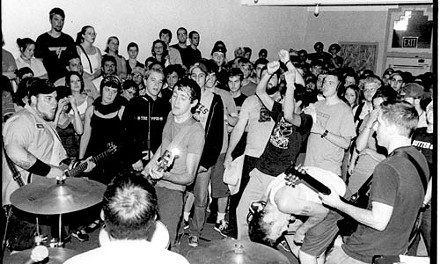 Teddy Duchamp's Army playing a tour send-off show at Roboto in 2001.