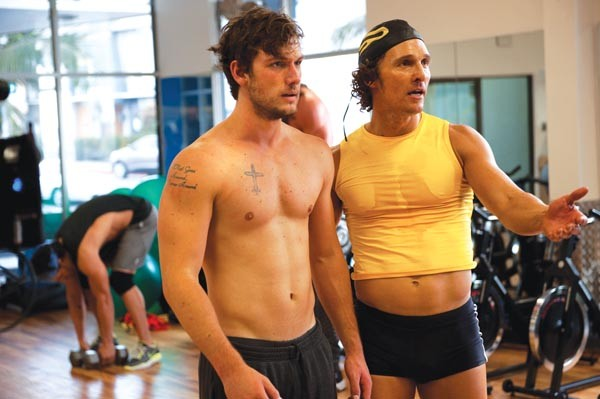 The abs have it: Alex Pettyfer and Matthew McConaughey