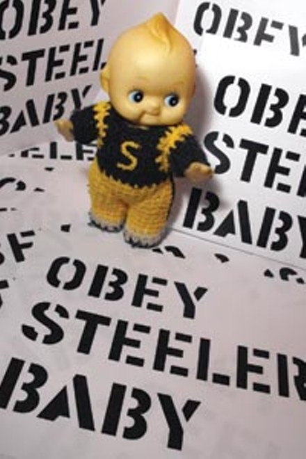 The accused: Steelerbaby with the offending logo. - COREY LECHAT