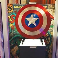 The Captain America exhibit in <i>Comic-Tanium</i>