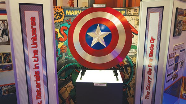 The Captain America exhibit in Comic-Tanium