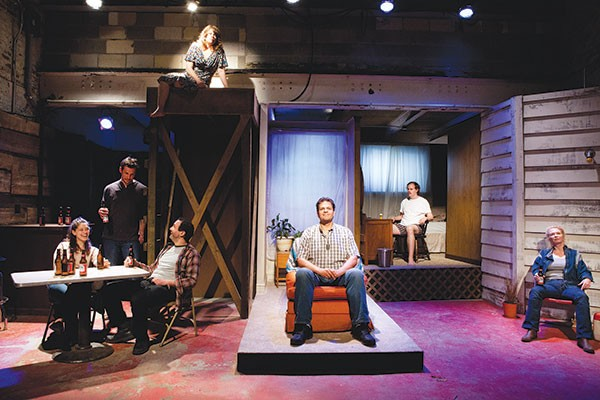 The cast of American Falls, at barebones productions - PHOTO BY HEATHER MULL