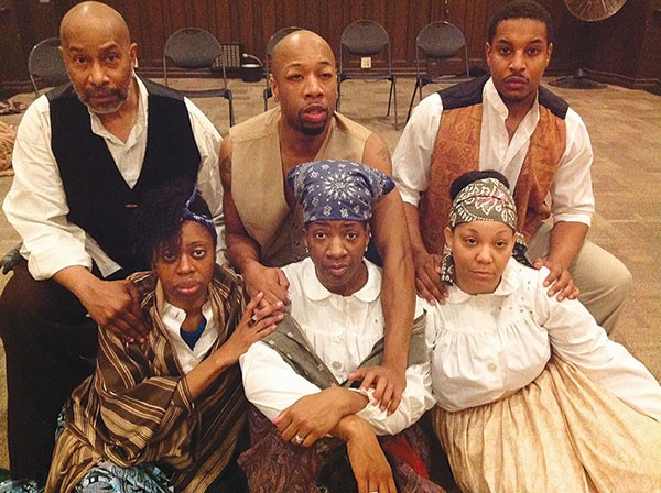 The cast of New Horizon's Do Lord Remember Me: (front row, from left) Delana Flowers, Karla Payne and Camille Washington; and (second row, from left) Kevin Brown, Mils James and Gary L. Perkins, III.