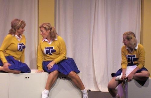 The cast of Vanities, at South Park Theatre.
