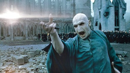The Dark Lord rises: Voldemort (Ralph Fiennes) in the final showdown