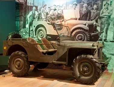 The exhibit includes this early jeep, made in Butler. - PHOTO COURTESY OF HEINZ HISTORY CENTER.