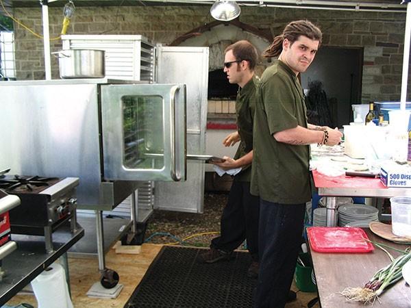 The Farmer's Table mobile kitchen setup - PHOTO COURTESY OF JACOB MAINS