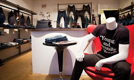 The freshest jeans: Moda's casual third floor is popular with the younger crowd. - BRIAN KALDORF