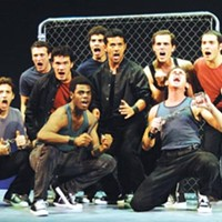 The gang's all here: Sharks sing it out in Pittsburgh CLO's <I>West Side Story</I>.