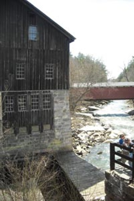 The grist mill is now a portal for kayakers (below) - PHOTO: AL HOFF