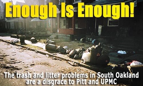 The homepage photo for Pitttrash.com