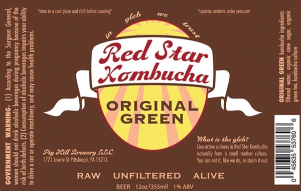 The label for Original Green Kombucha