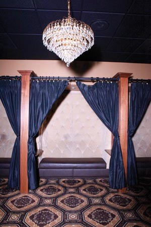 The lap dance area at Cheerleaders - PHOTO BY HEATHER MULL