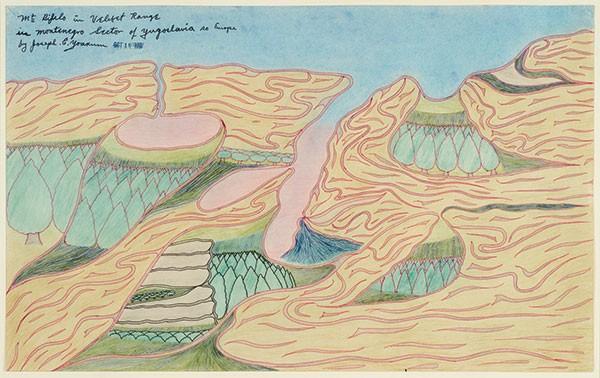 "The late Joseph Yoakum's ""Mt. Bifelo in Velibet Range in Montengno Sector of Yugoslavia"""