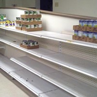The </span>Northside Common Ministries food pantry is short on canned goods this season.