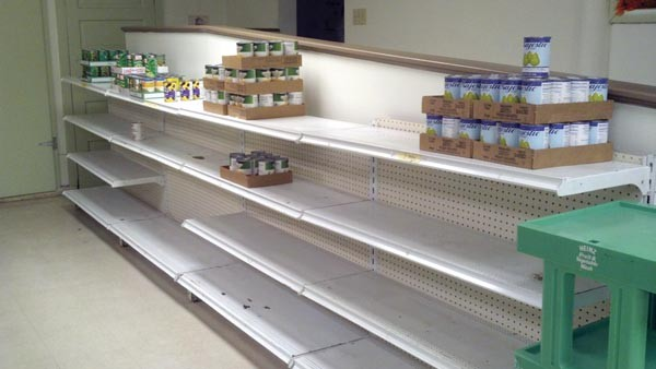 The Northside Common Ministries food pantry is short on canned goods this season.