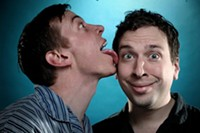 The Pajama Men: Shenoah Allen (left) and Mark Chavez