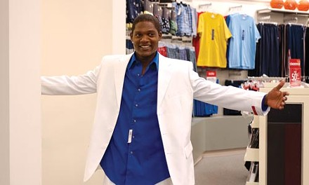 The pitcher's new clothes: Sugar (Algenis Perez Soto) tries success on for size.