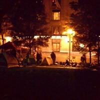 The scene at Mellon Green last night