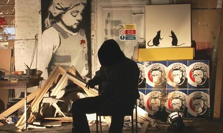 The Shadow knows: the enigmatic Banksy, at his studio