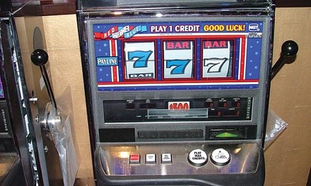 The state's only $500 slot machine - CHARLIE DEITCH