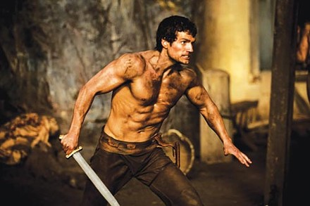 The sword is mightier: Henry Cavill as Theseus