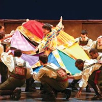 The vision thing: David Toole (center) in Pittsburgh Musical Theater's <i>Joseph and the Amazing Technicolor Dreamcoat</i>