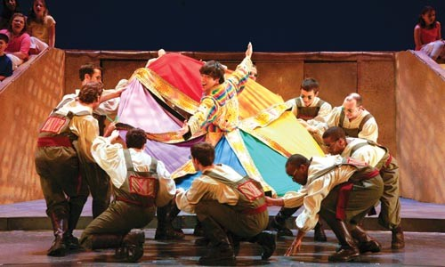 The vision thing: David Toole (center) in Pittsburgh Musical Theater's Joseph and the Amazing Technicolor Dreamcoat - COURTESY OF PATTI BRAHIM