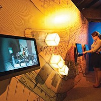 These touch-screens are a new part of the History Center exhibition <i>From Slavery to Freedom</i>