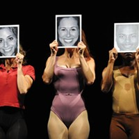 They can do that: (from left) Gina Phillistine, Heather Parcells and Kevin Curtis in Pittsburgh CLO's <i>A Chorus</i> <i>Line</i>.