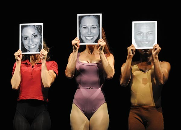 They can do that: (from left) Gina Phillistine, Heather Parcells and Kevin Curtis in Pittsburgh CLO's A Chorus Line.